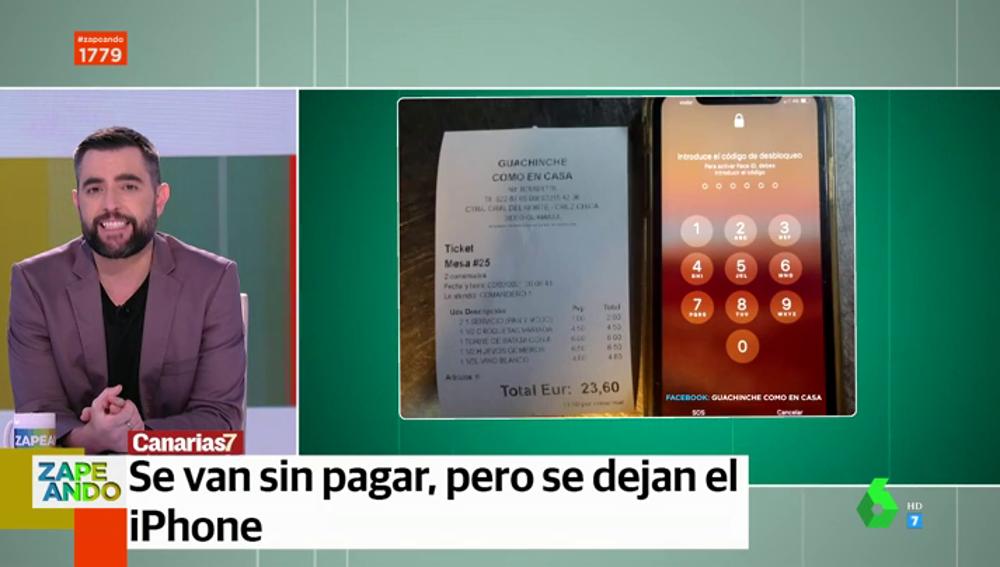 Hacen un simpa y se dejan el iPhone: la huida frustrada de dos jóvenes en un bar de Tenerife