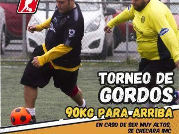 """Cartel promocional del """"Torneo de Gordos"""""""