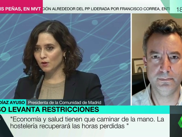 """La crítica del doctor César Carballo a Ayuso: """"Si el coronavirus viviese, le encantarían sus palabras"""""""