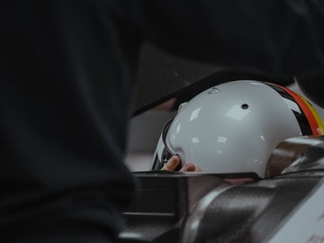 Imagen del casco de Vettel