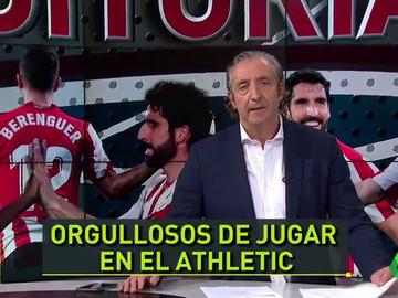 """Pedrerol: """"Castellano, euskera o en los dos idiomas... qué más da. Los jugadores del Athletic sienten los colores"""""""