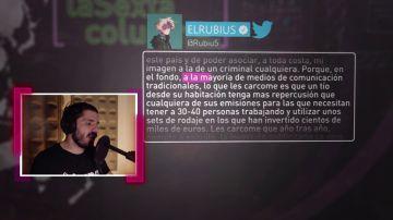 La tajante respuesta de laSexta Columna a El Rubius tras su crítica a los medios tradicionales