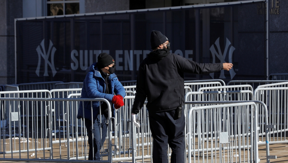El estadio de los New York Yankees, convertido en un centro de vacunación