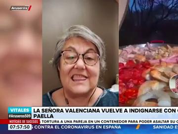 """Vuelve la indignación de la valenciana que reacciona a recetas de paellas: """"Voy a dejar de ver vídeos porque me 'energumeno'"""""""