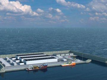 Representación gráfica de la isla energética que quiere construir Dinamarca