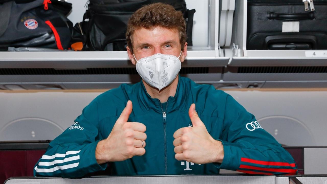 Muller, en el aeropuerto de Berlín