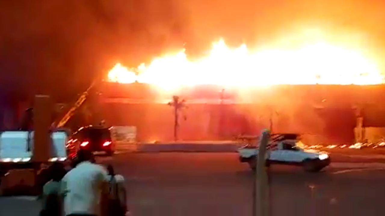 Grave incendio en el circuito de Argentina de MotoGP