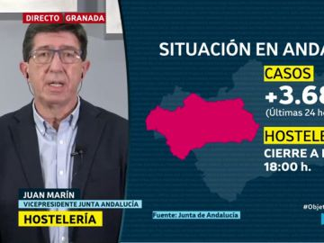 """Juan Marín: """"Por encima de todo lo que tenemos que perseguir es seguir salvando vidas"""""""