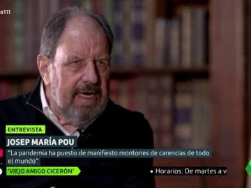 """La dura crítica de Josep María Pou a los políticos: """"Siento vergüenza ajena """""""