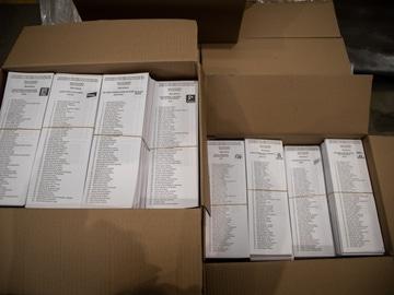 Papeletas para las elecciones del 14-F
