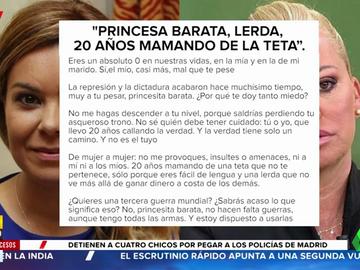 """La carta completa de María Jesús Campanario a Belén Esteban: """"Eres una lerda que no ve más allá de ganar dinero a costa de los demás"""""""