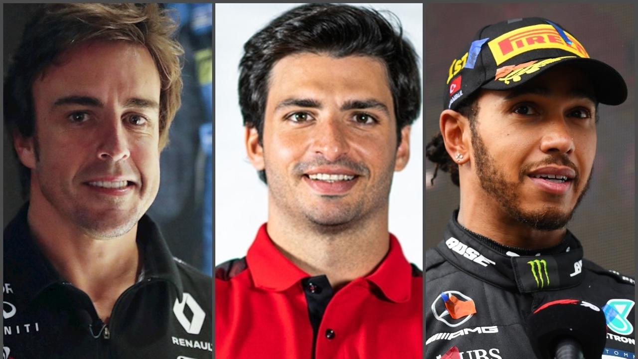 Alonso, Sainz y Hamilton