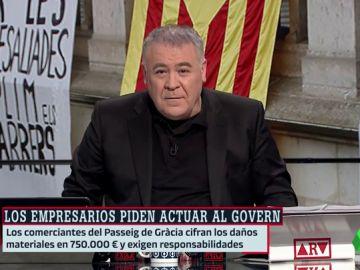 Ferreras, contundente sobre los disturbios.