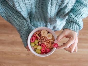 Imagen de archivo de un desayuno variado.
