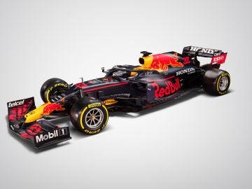 El RB16B con el que rodarán Max Verstappen y Sergio Pérez este 2021
