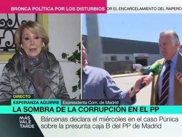 Así reaccionó Esperanza Aguirre cuando Mamen Mendizábal le preguntó si Bárcenas podía ponerla en aprietos