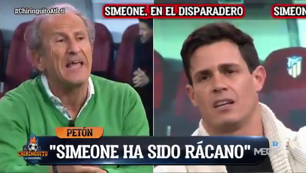 """Tenso cara a cara entre Edu Aguirre y Petón: """"El Atlético tiene un ADN perdedor"""""""
