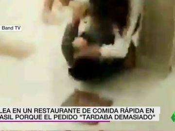 Una brutal pelea en un Burger King de Brasil acaba con dos trabajadores heridos