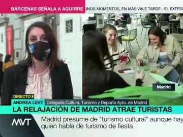 """Andrea Levy presume de turismo cultural: """"Madrid, en ningún caso, está siendo un reclamo para el turismo de borrachera"""""""