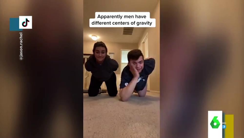 El reto de Tik Tok que muestra que hombres y mujeres tienen diferentes centros de gravedad