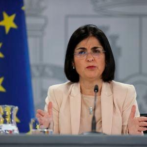 La ministra Darias, en rueda de prensa tras una reunión del Consejo Interterritorial