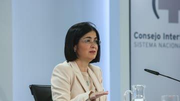 La ministra de Sanidad, Carolina Darias, ofrece una rueda de prensa tras la reunión del Consejo Interterritorial del Sistema Nacional de Salud en el complejo de la Moncloa, en Madrid