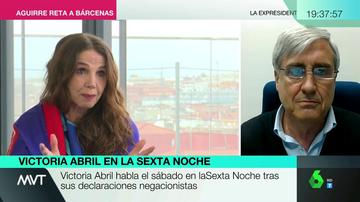 """La reacción del doctor Badiola al escuchar las palabras de Victoria Abril sobre las vacunas en laSexta Noche: """"¡Pero, hombre... por favor! No sabe lo que está diciendo"""""""