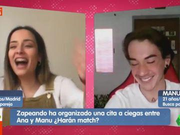 """Dos jóvenes hacen 'match' en Zapeando gracias a Camela: """"Llamad aquí a un cura que me caso"""""""