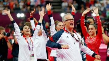 John Geddert, entrenador de la selección femenina de Estados Unidos en 2012