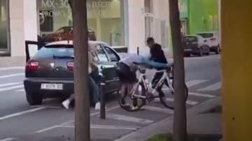 Agresión a un ciclista en Sabadell