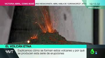 Experimento de 'MVT' con un volcán.