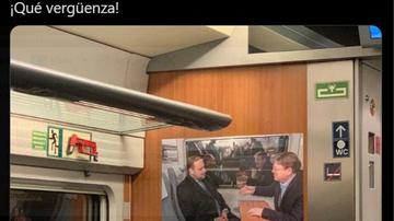 El tuit de indignación de Toni Cantó por una foto de Ábalos y Puig en el AVE Madrid-Valencia