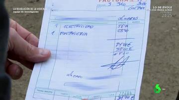 Factura del falso albañil de Linares