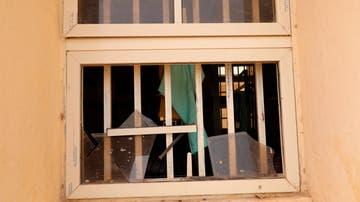 Una ventana rota en el instituto en el que más de 300 niñas han sido secuestradas en Nigeria