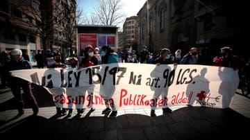 Manifestación en favor de la Sanidad Pública