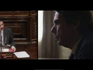 """""""Cuidado"""": el tenso momento entre Aznar y Évole al preguntarle sobre la posible corrupción en su Gobierno"""