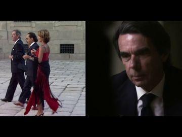 """La rotunda respuesta de Aznar tras ver las imágenes de El Bigotes y Correa en la boda de su hija: """"No los conocía"""""""