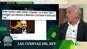 """Juan Carlos I habría pedido a Moncloa y Zarzuela volver a España """"tres o cuatro"""" días y le habrían dicho que no"""