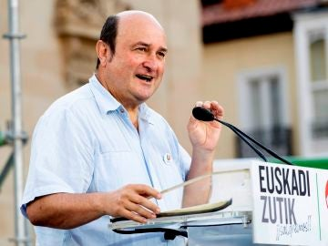El presidente del Partido Nacionalista Vasco (PNV), Andoni Ortuzar, durante un acto