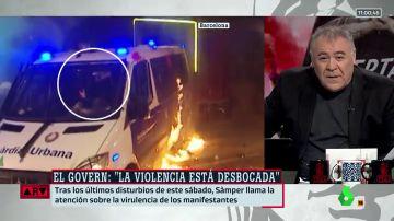 El contundente mensaje de Ferreras sobre los disturbios en Barcelona.