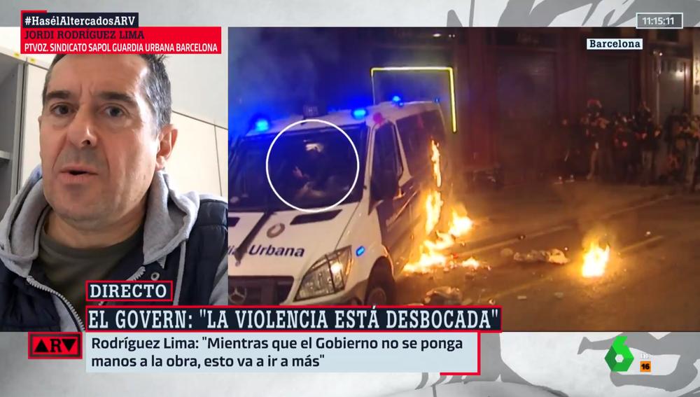 Jordi Rodríguez Lima, portavoz del sindicato SAPOL, en ARV