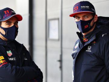 Pérez y Verstappen