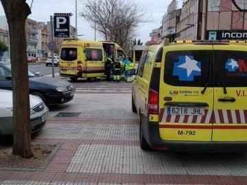 Ambulancias en el lugar de los hechos