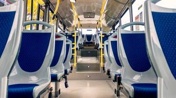 Imagen del interior de un autobús de la Generalitat