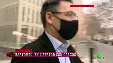 Así ha sido la salida de Josep María Bartomeu en libertad