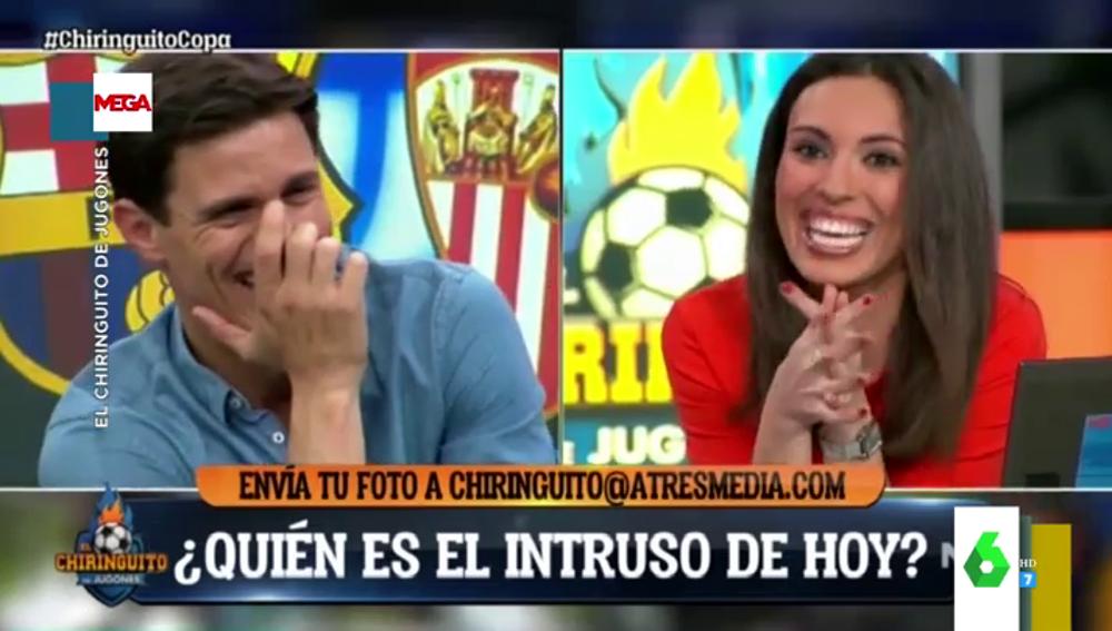 """Trolean a Sandra Díaz Aras en el directo de El Chiringuito al mandarle un mensaje de """"Elber Galarga"""": """"¿Por qué me hacen esto?"""""""
