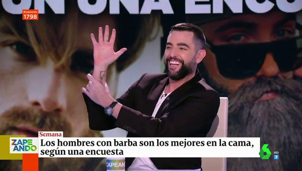 La broma de Dani Mateo sobre su vida sexual tras conocer que los hombres con barba son los mejores en la cama