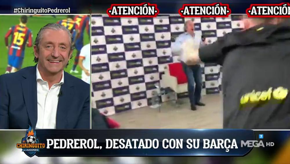 El vídeo viral de Josep Pedrerol desatado con el gol de Piqué en el descuento