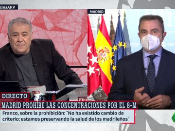 El delegado de Gobierno, José Manuel Franco, en ARV