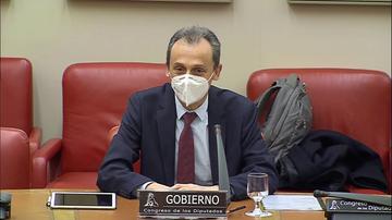El ministro de Ciencia e Innovación, Pedro Duque, presenta el Pacto por la Ciencia en el Congreso.